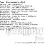Cybermusique, La Tique, DJ Mix, DJ Set, Electro, Techno
