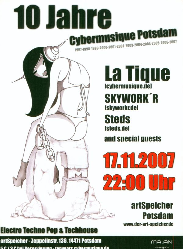 Cybermusique, Party, 10 Jahre